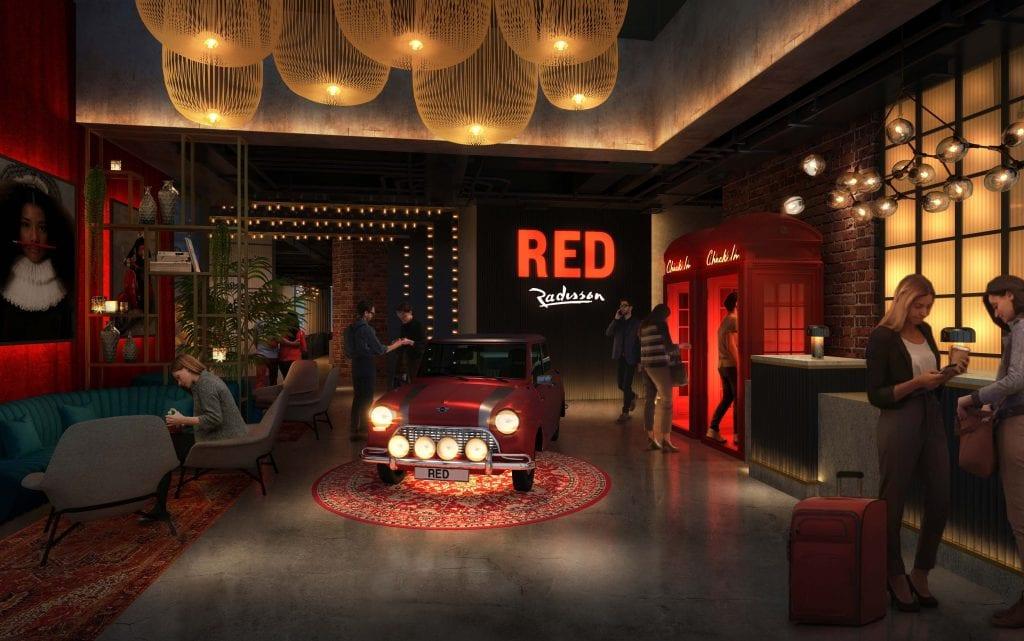 RADISSON RED RECEPTION VISUAL - MINI OPTION